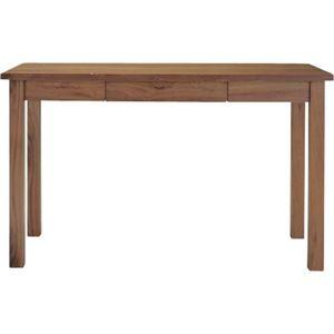 【ぬくもり家具】Tomteトムテ 引き出し付き 木製デスク(組立) ウォルナット TAC-311WAL  [幅120×高さ72cm] - 拡大画像