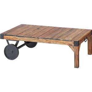 サイドテーブル(トロリー型テーブル) 【Timeless Tender】タイムレステンダー 木製/アイアン TTF-116 - 拡大画像