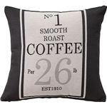 プリントクッション コーヒー袋柄 正方形 45cm×45cm コットン (綿)入り [インテリア雑貨] TTC-104