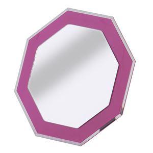 八角形ミラー スチロール樹脂 AHK-920547 ピンク