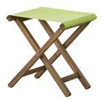 折りたたみ椅子(スツール) 【Patio】パティオ 木製(アカシア) NX-602GR グリーン(緑) 【完成品】 の画像