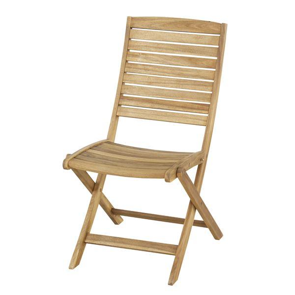 折りたたみ椅子/チェア 【Nino】ニノ 木製(アカシア/オイル仕上げ) NX-801【完成品】
