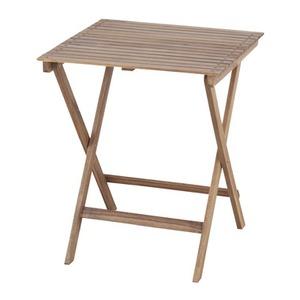 折りたたみ式テーブル 【Byron】バイロン 木製(アカシア/オイル仕上) 正方形 木目調 NX-902 - 拡大画像