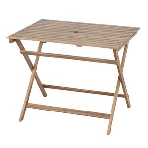 折りたたみ式テーブル 【Byron】バイロン 木製(アカシア/オイル仕上) 木目調 NX-903 - 拡大画像