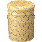 ペール缶スツール(収納付きスツール) スチール (インテリア家具) JAM-236YE イエロー(黄) の画像