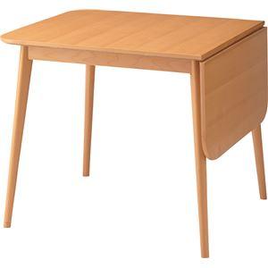 伸長式ダイニングテーブル(ロッキ ドロップリーフテーブル) 木製 TK-113T - 拡大画像