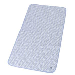 東谷(AZUMAYA) 接触冷感ベッドパッド Gブルー GLS-382GBL - 拡大画像