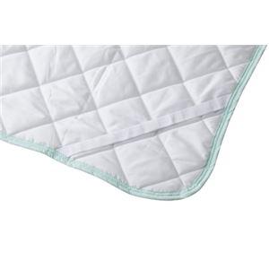 ソフトクール 接触冷感 ベッドパッド タイポグラフィグリーン GLS-387TGR