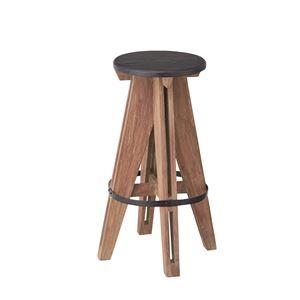 (2脚セット)東谷 アイザック ハイスツール チェア 木製(天然木) 高さ65cm NW-857 - 拡大画像