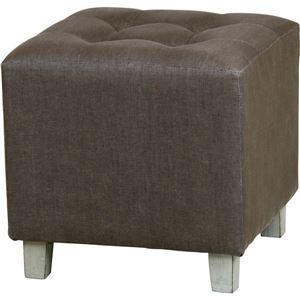 無地スツール/腰掛け椅子 【ブラウン】 幅35cm×奥行35cm×高さ35cm COL-001BR