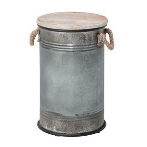 (4脚セット) スツール缶 スチール ELF-337