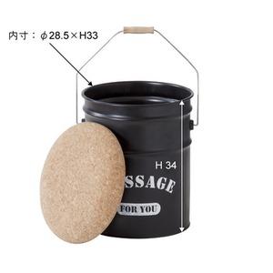 (4脚セット) ペール缶スツール スチール JAM-237 の画像