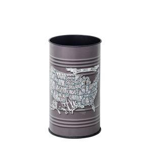 ダストボックス/円形ゴミ箱 【直径25.5cm×高さ43cm】 スチール LFS-431B 〔インテリアグッズ ディスプレイグッズ〕