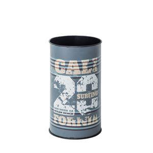 ダストボックス/円形ゴミ箱 【直径25.5cm×高さ43cm】 スチール LFS-431D 〔インテリアグッズ ディスプレイグッズ〕