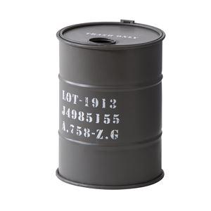 トラッシュカン/蓋付きゴミ箱 【グレー】 直径23cm×高さ31cm スチール製 LFS-440GY