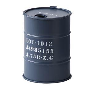 トラッシュカン/蓋付きゴミ箱 【ネイビー】 直径23cm×高さ31cm スチール製 LFS-440NV