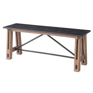 ウッディテイストベンチチェア/置台 【幅115cm】 木製 天然木 NW-854B 〔インテリア家具 什器〕 の画像