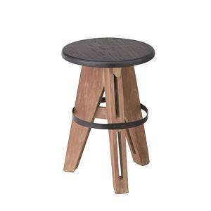 ウッディテイストスツール/丸椅子 【高さ45cm】 木製 天然木 NW-856 〔インテリア家具 什器〕 の画像