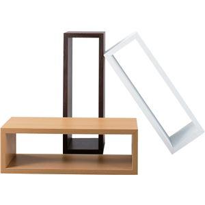 パズルラック/デザイン収納棚 【コゾー ホワイト】 幅54cm NWS-556WH 〔インテリア家具 ディスプレイ用品〕 の画像