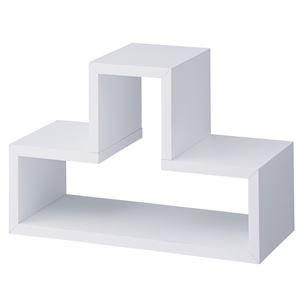 パズルラック/デザイン収納棚 【トツゾー ホワイト】 幅54cm NWS-559WH 〔インテリア家具 ディスプレイ用品〕 - 拡大画像