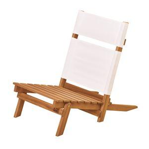 天然木デッキチェア(組み立て式椅子) 木製/アカシア NX-515 〔アウトドア キャンプ お庭 テラス〕 - 拡大画像