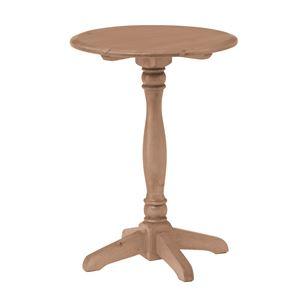 アンティーク調ラウンドサイドテーブル/ミニテーブル 【円形 直径38cm】 木製 木目調 『バーニー』 PM-617