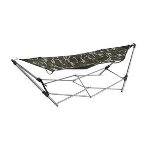 ワンタッチハンモックチェア/揺り椅子 スチールフレーム RKC-537CM 〔アウトドア キャンプ お庭〕