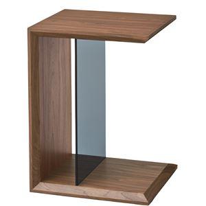 マルチサイドテーブル/ミニテーブル 【幅54cm】 強化ガラス使用 ウォールナット SO-226WAL