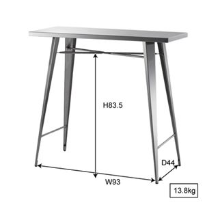 ステンレス製カウンターテーブル/ハイテーブル 【幅105cm】 STN-336 〔ディスプレイ家具 什器〕 の画像