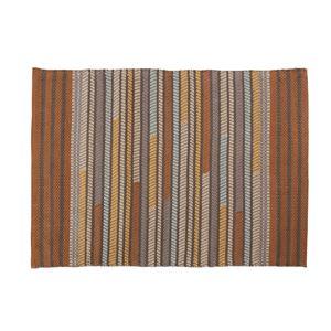 ラグマット/絨毯 【130cm×90cm】 長方形 コットン製 裏面:スベリ止め加工 TTR-110A