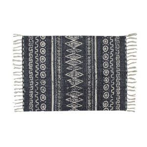 ミニラグマット/絨毯 【70cm×50cm】 長方形 コットン製 裏面:スベリ止め加工 TTR-112A