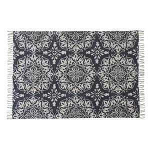 ラグマット/絨毯 【170cm×120cm】 長方形 コットン製 裏面:スベリ止め加工 TTR-114C