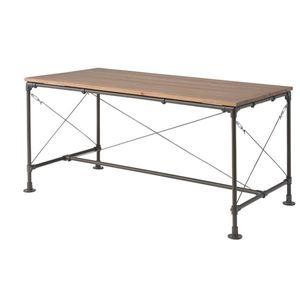 ダイニングテーブル パイン材+スチール