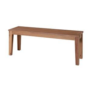 木製ベンチ椅子/ベンチチェア 【幅134cm×奥行35cm】 アカシア材オイル仕上げ 『アルンダ』 - 拡大画像