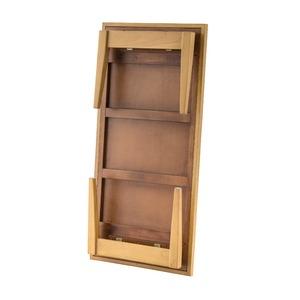 天然木 フォールディングテーブル/折りたたみ机 【幅105cm】 木製 トレー型天板 木目調