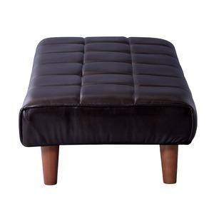 ローベンチ/ベンチ椅子 【幅100cm】 張地:合成皮革/合皮 ロータイプ使用可 〔インテリア家具 什器〕