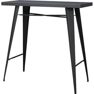 モダン カウンターテーブル/ダイニングテーブル 【幅105cm】 長方形 スチール 〔リビング ダイニング 店舗 オフィス〕