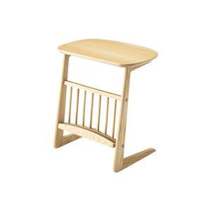 ワイド サイドテーブル/ミニテーブル 【ナチュラル 幅55cm】 木製 『ヘンリー』 〔リビング ダイニング ベッドルーム 寝室〕