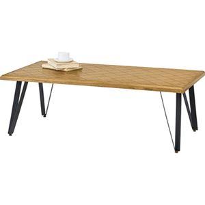 モダン ローテーブル/センターテーブル 【幅116cm】 長方形 木製 アイアン 『ジョーカー』 〔リビング 店舗 飲食店〕