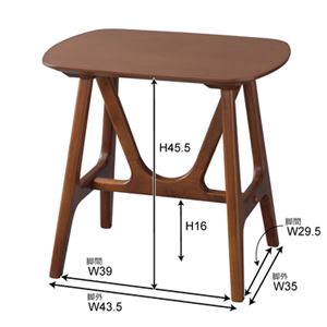 サイドテーブル/ミニテーブル 【幅50×奥行38×高さ48cm】 木製 〔リビング ダイニング ベッドルーム 寝室〕