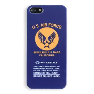 iPhone5ケース USAF タッチペン付き ネイビー 11C - 拡大画像