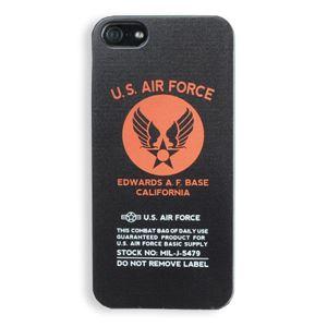 iPhone5ケース USAF タッチペン付き ブラック 11D - 拡大画像