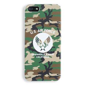 iPhone5ケース USAF タッチペン付き ウッドランドカモ 12B - 拡大画像