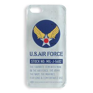 iPhone5ケース USAF タッチペン付き クリア ロゴ 12C - 拡大画像