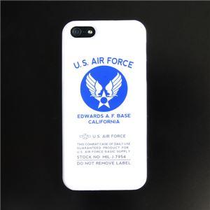 iPhone5ケース USAF タッチペン付き ホワイト ロゴ 12E - 拡大画像