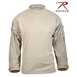 Rothco コンバットシャツ カーキ 90030 [L] - 拡大画像