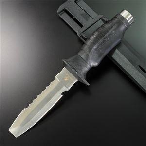 UK ダイビングナイフ ブルータング 黒 - 拡大画像