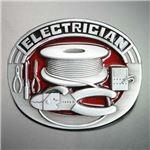 ベルトバックル 電気技術者 レッド WT122RD