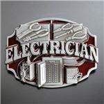 ベルトバックル 電気技術者 レッド WT124RD