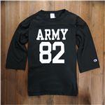 チャンピオン 7分袖Tシャツ T1011 ブラック [Sサイズ][c5d403090s]B01C01E